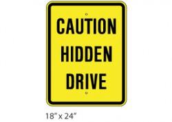Caution Hidden Drive