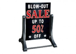 Deluxe Message Board Swinger Sign Black