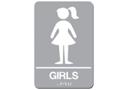 Girls Restroom Sign