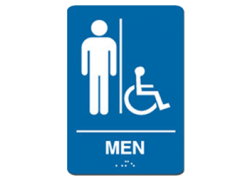 Men Handicap Sign