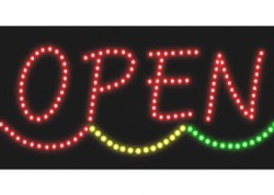 Wave Open Sign