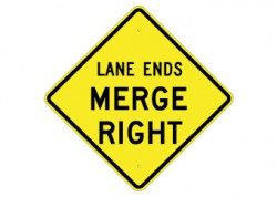 Lane Ends / Merge Right