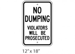 No Dumping – Prosecuted