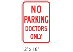 No Parking Doctors Only