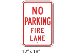 No Parking Fire Lane