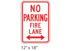 No Parking Fire Lane Left Right