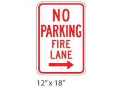 No Parking Fire Lane Right
