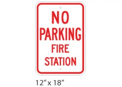 No Parking Fire Station