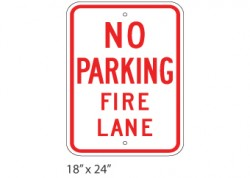 No Parking – Fire Lane – Large