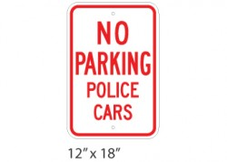 No Parking Police Cars