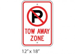 No Parking- Tow Away Zone 3