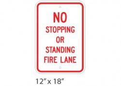 No Stop/Stand – Fire Lane