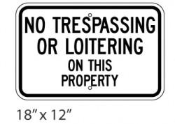 No Trespassing/Loitering