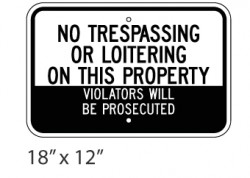 No Trespassing Or Loitering On This Property 2
