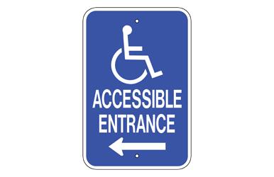 handicap entrance left signs by web