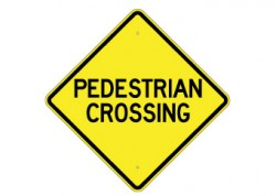 Pedestrian Crossing Text