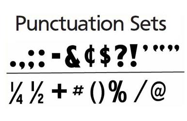 Changeable Copy Letters Punctuation Sets