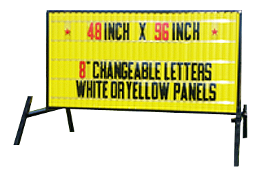Outdoor Lighted Portable Message Sign - Deluxe Reader Board