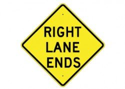 Right Lane Ends