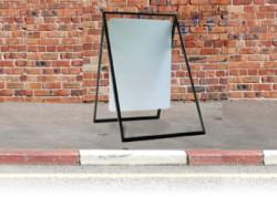24″ x 30″ white blank only for Sidewalk Frame