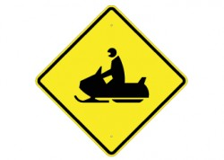 Snow Mobile Crossing