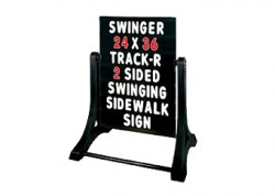 Standard Message Board Swinger Sign Black