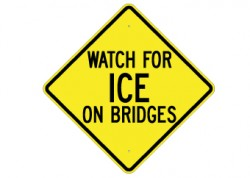 Ice On Bridge
