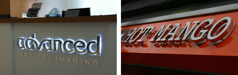 Indoor Thin Steel LED Letters