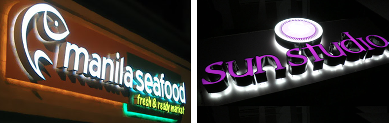 Outdoor Combination LED Channel Letter Signs