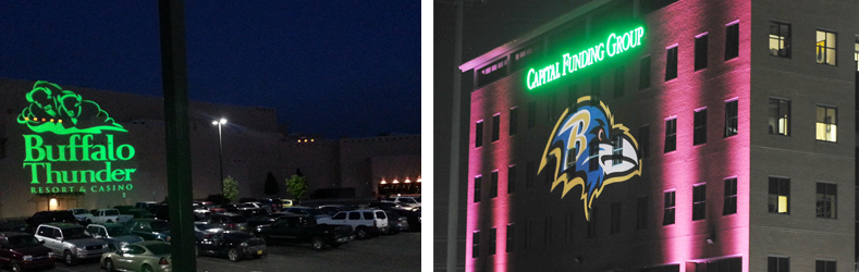 Outdoor Lighted Projected Signs
