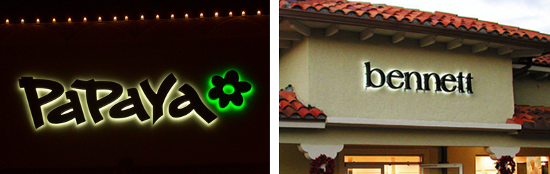 Outdoor Reverse LED Channel Letter Signs