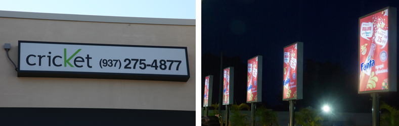 Outdoor LED Cabinet Signs