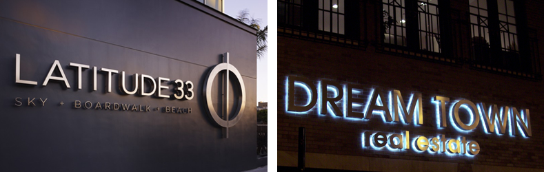 Outdoor Thin Steel LED Letters