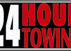 24 Hour Towing Sign