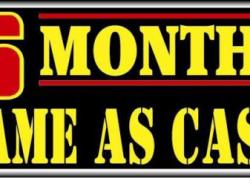 6 Months Cash Sign