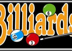 Billiards Sign