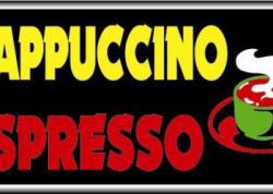 Cappuccino Espresso Sign