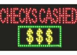 Checks Cashed LED