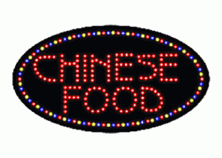 Chinese Food Oval Red LED