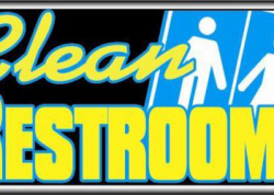 Clean Restrooms Sign
