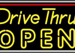 Drive Thru Open Sign