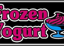 Frozen Yogurt Sign