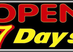 Open 7 Days Sign