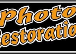 Photo Restoration Sign