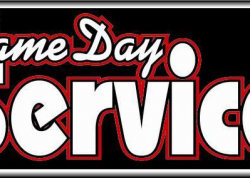 Same Day Service Sign