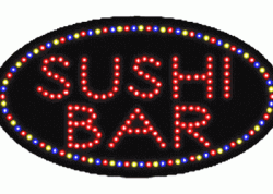 Sushi Bar Oval LED