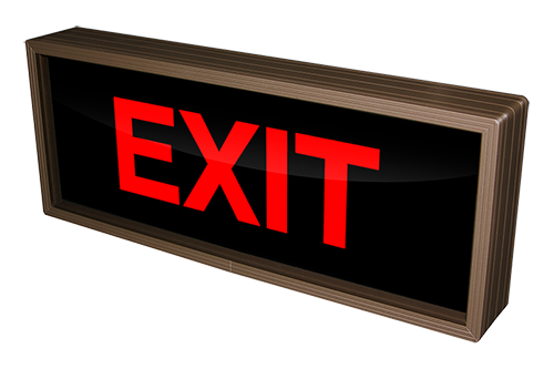 Outdoor LED Signal Signs - Backlit Exit