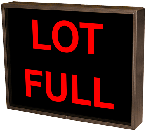 Outdoor LED Signal Signs - Backlit Lot Full