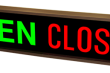 Outdoor LED Signal Signs - Open/Closed Rectangle Sign