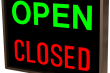 Outdoor LED Signal Signs - Backlit Open/Closed Square